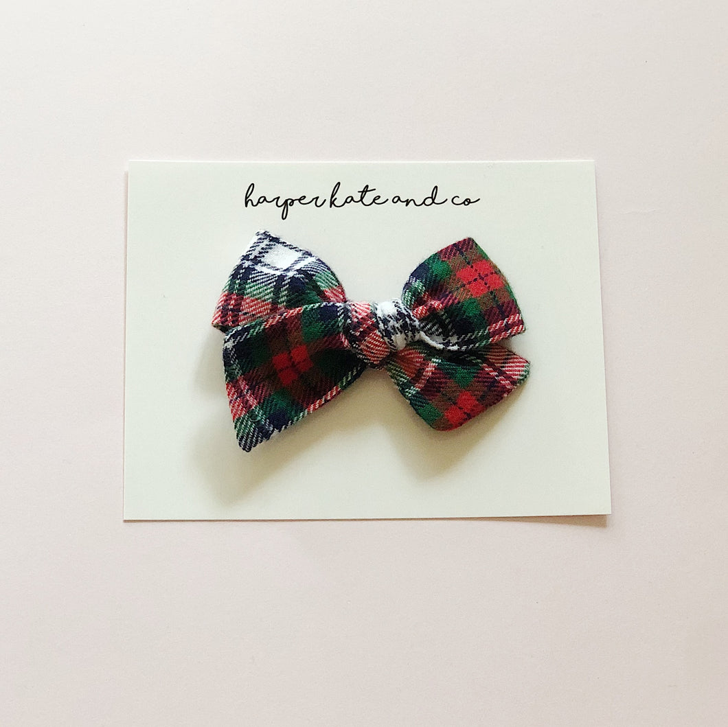 Flannel Plaid • Small Hattie Bow