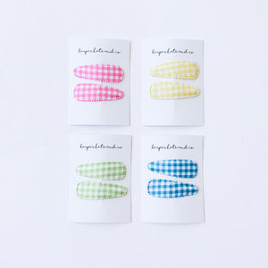 Yellow Gingham Snap Clip Set