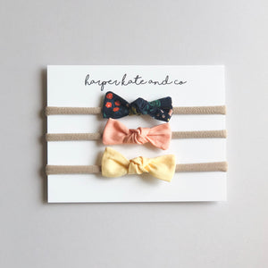 Yellow + Peach Mini Knot Set