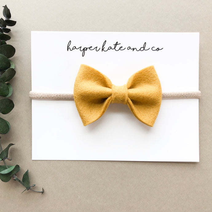 Mustard Kate Bow