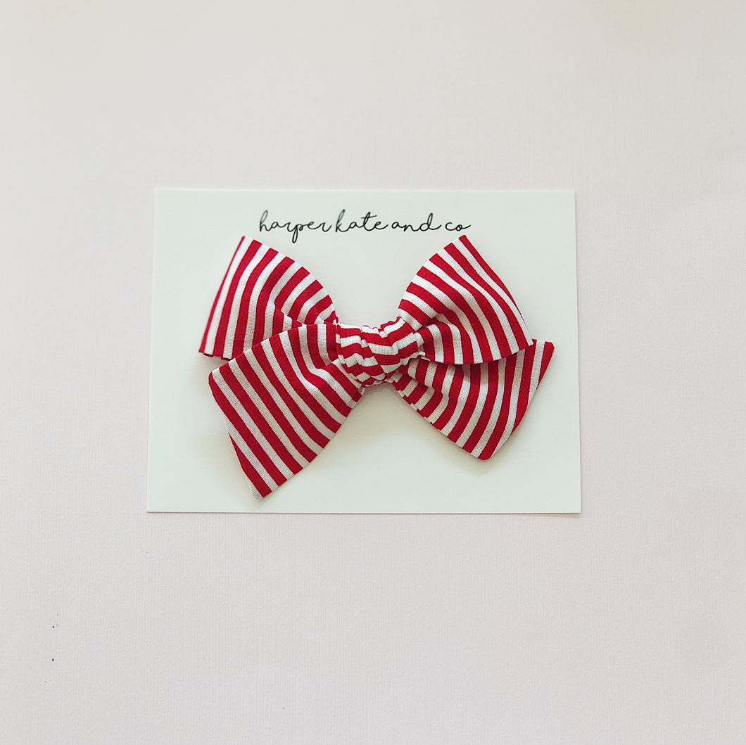 Candy Cane Stripes • Oversized Hattie Bow