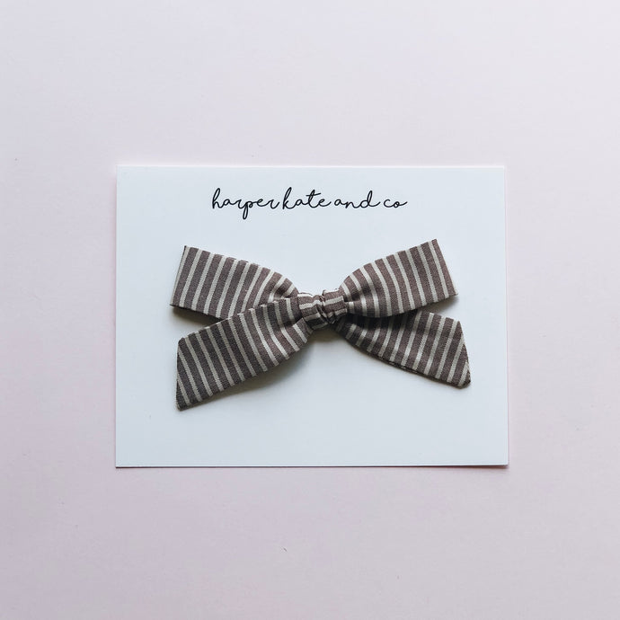 Chocolate Stripe • Lucy Bow