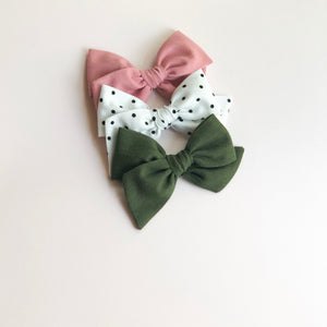 Olive • Oversized Hattie Bow