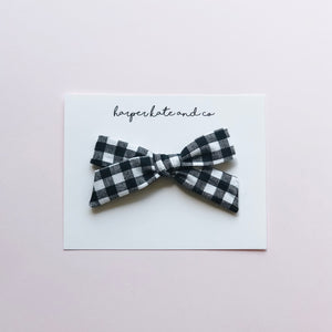 B&W Plaid • Lucy Bow