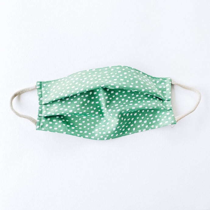 LARGE Face Mask • Green Dots