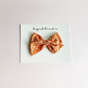 Orange Dot • Small Hattie Bow