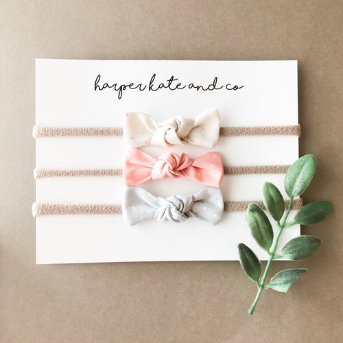 Knot Bow Set - Soft Neutrals