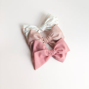 Sunset Blush • Oversized Hattie Bow