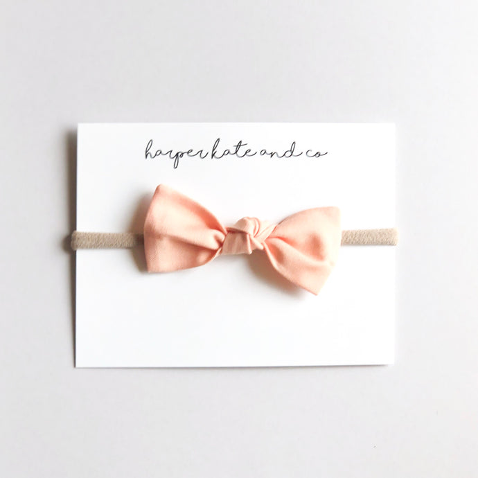 Peach Oversized Knot Bow