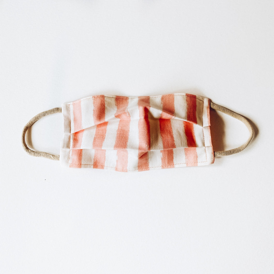 MEDIUM Face Mask • Blush Stripes
