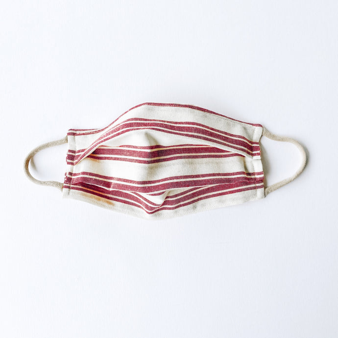 LARGE Face Mask • Rustic Red Stripe