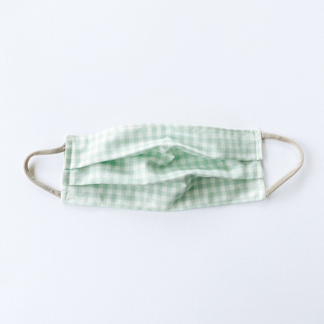 LARGE Face Mask • Mint Plaid