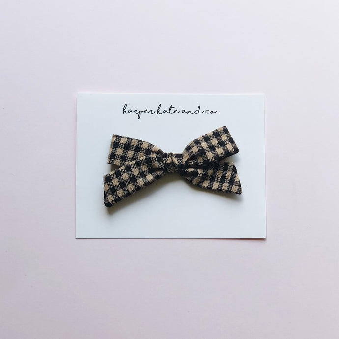Black & Tan Plaid • Lucy Bow