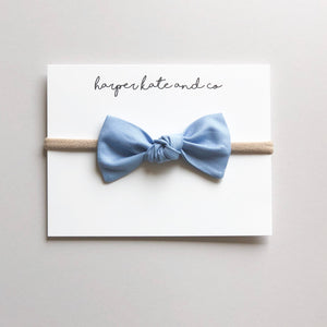Baby Blue Oversized Knot Bow