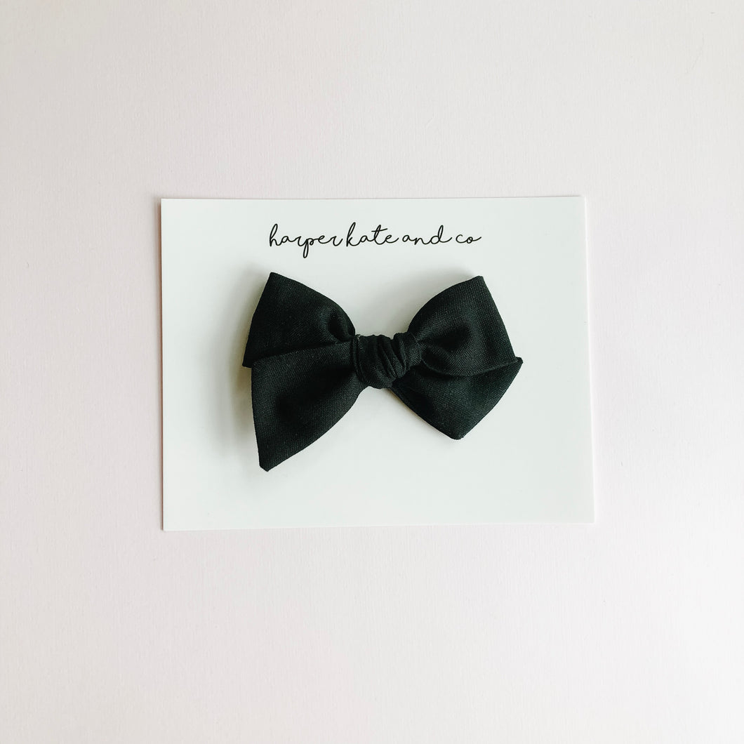 Black • Small Hattie Bow