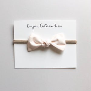 Ivory Blush Oversized Knot Bow
