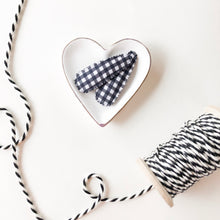 Black Gingham Snap Clip Set