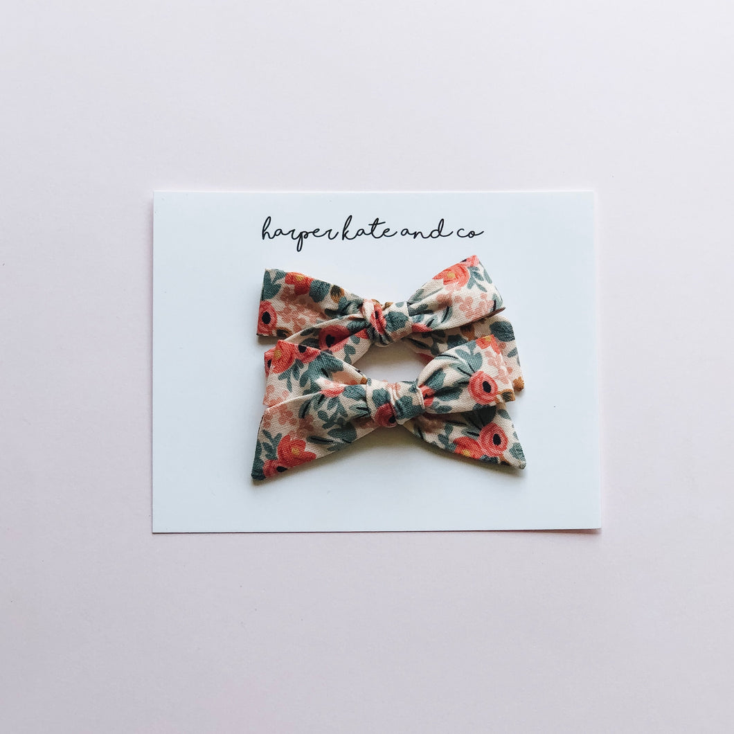 Rifle Paper Co Floral • Pigtail Set