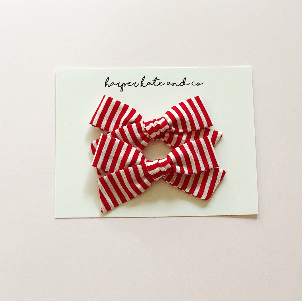 Candy Cane Stripes • Pigtail Set