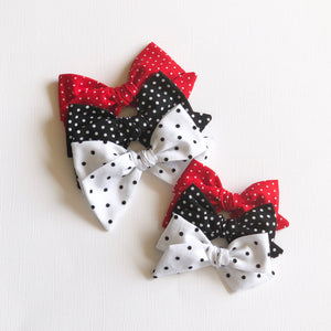 White Dot Hattie Bow
