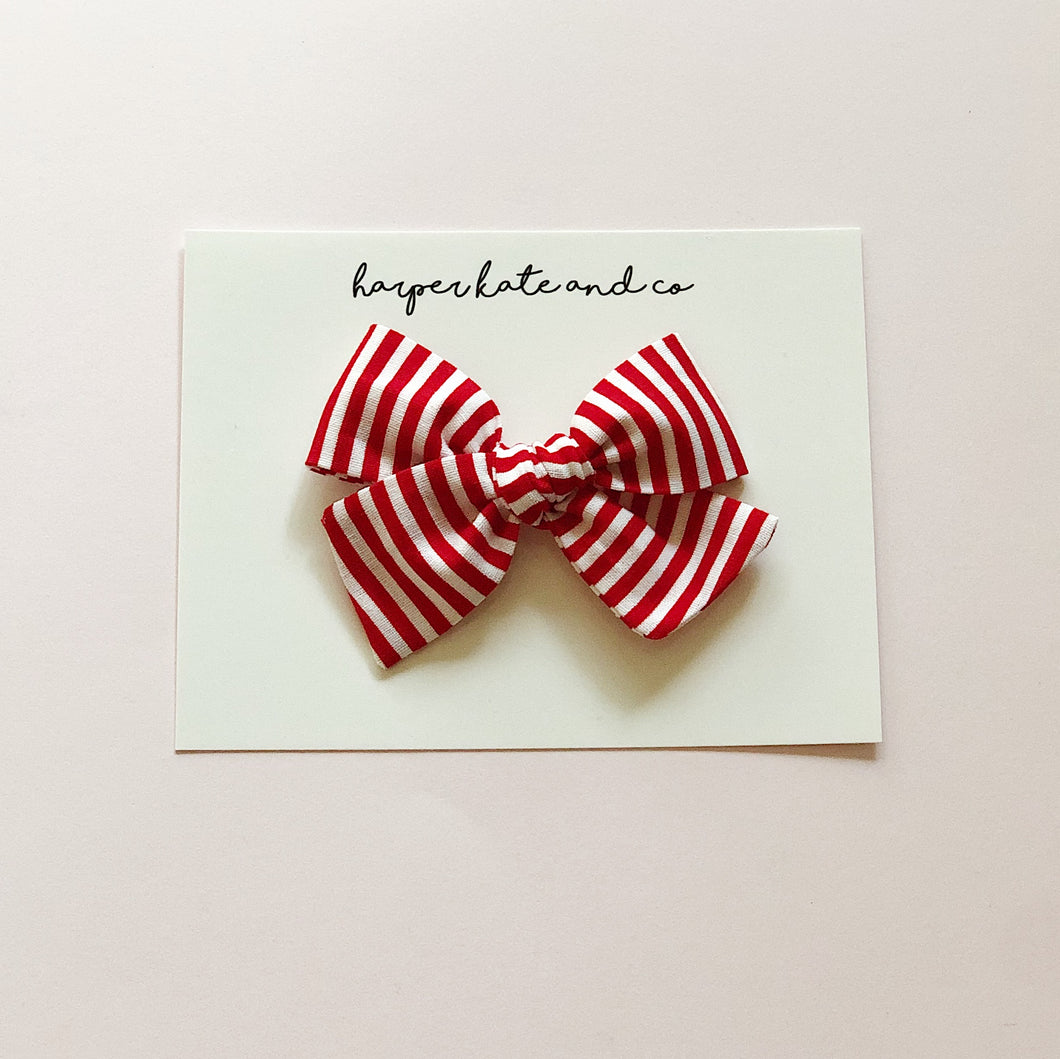 Candy Cane Stripes • Small Hattie Bow