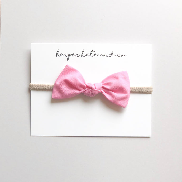 Bubblegum Pink Oversized Knot Bow