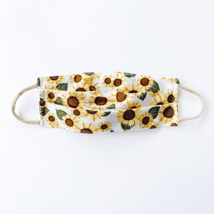 LARGE Face Mask • Sunflowers