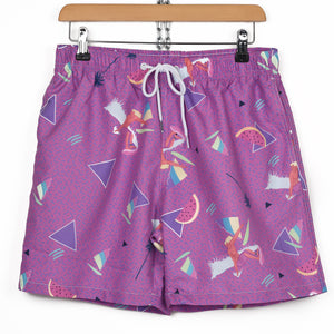 SURF YOKO HONDA PURPLE SWIM SHORTS