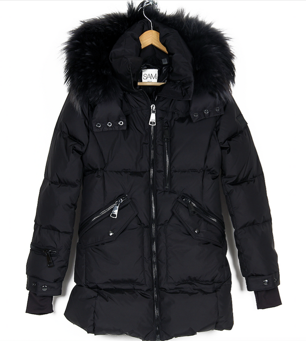 SAM. FUR CRUISER DETACHABLE COLLAR PUFFER COAT