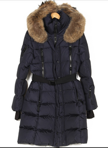SAM. INFINITY FUR-TRIMMED DOWN-QUILTED COAT