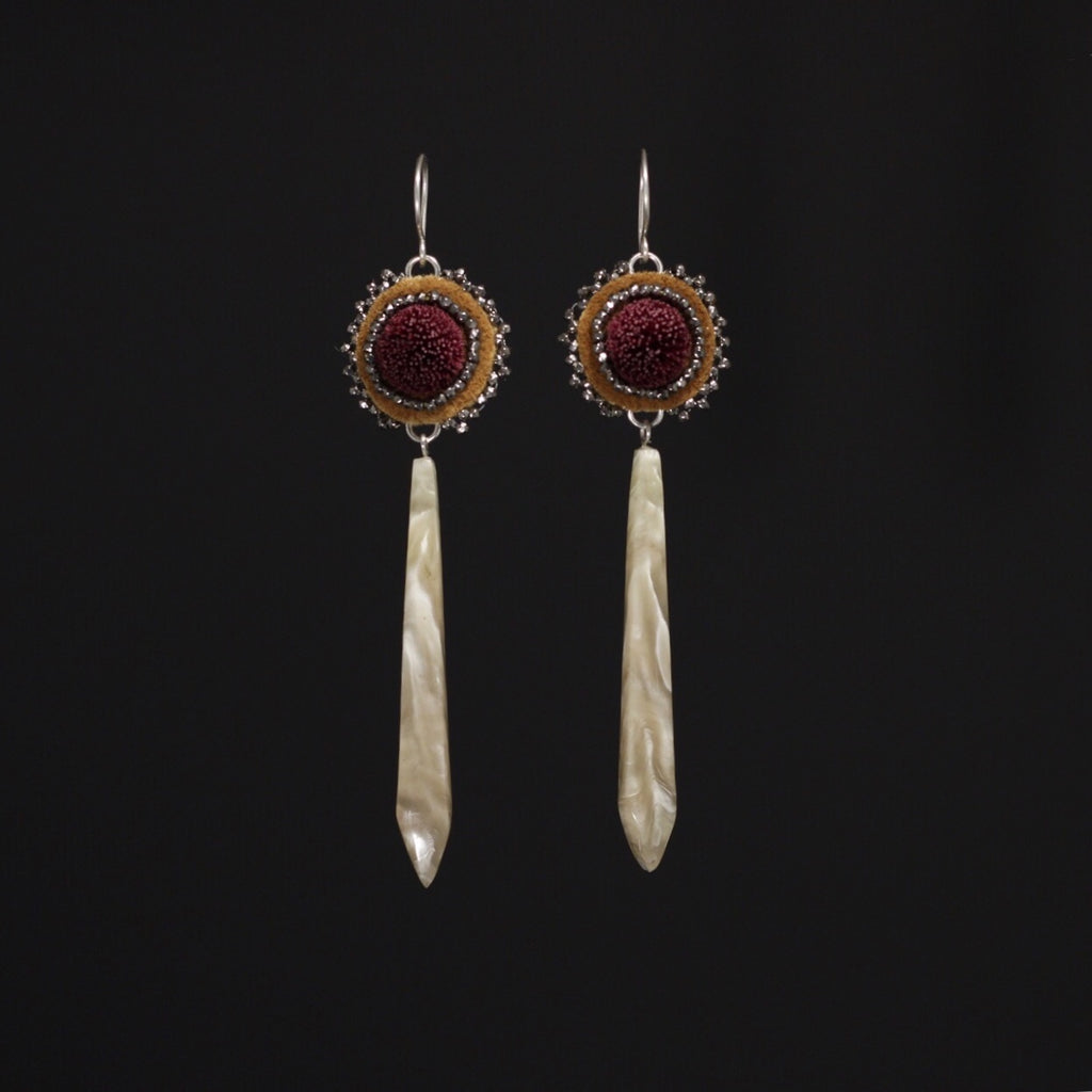 PRE-ORDER Caribou Tufting and Muskox Horn Earrings