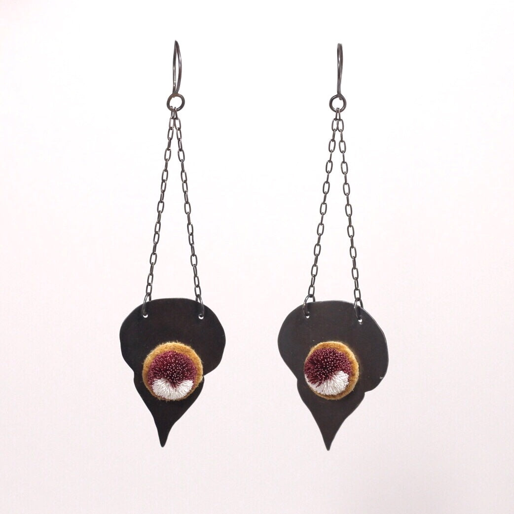 Caribou tufted earrings