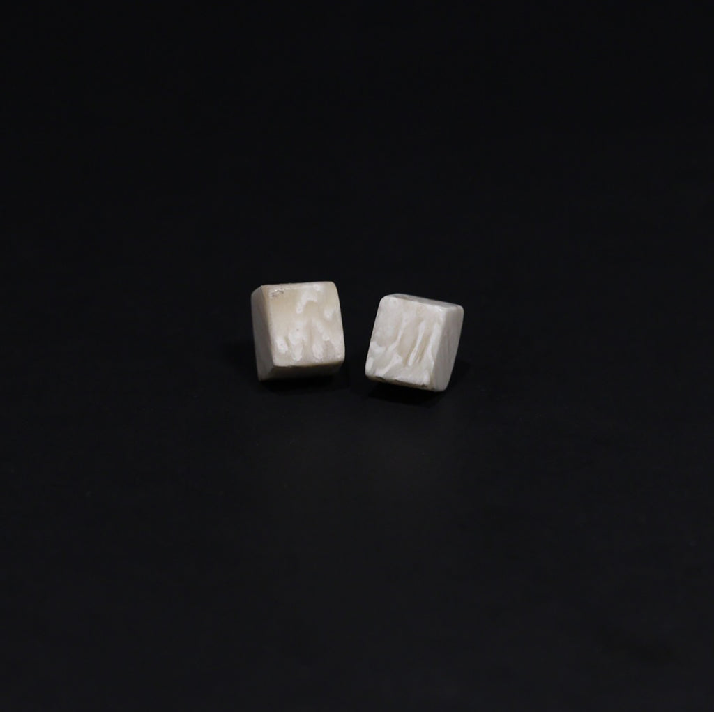 Muskox Horn Square Studs