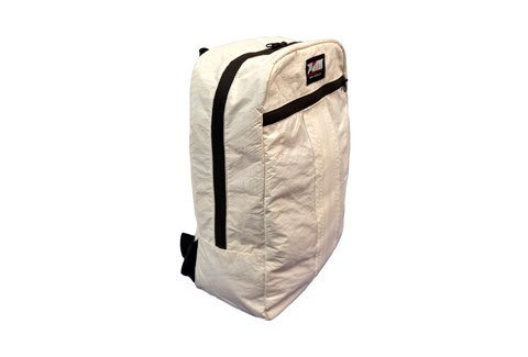 Made in Seattle- The Sail Backpack - Made from re-purposed white boat sails
