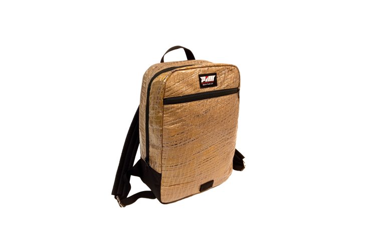 The Sail Backpack - Made from re-purposed brown boat sails