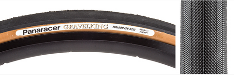TIRES PAN GRAVEL KING 700x28 FOLD Black/Brown