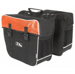 M-Wave | Amsterdam Double Bicycle Pannier Bag in Black/Orange