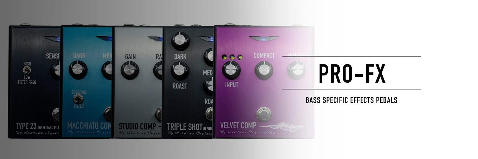 Ashdown PRO FX - New Dedicated Bass Effects Pedal Range