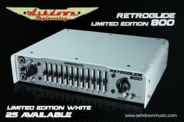 Ashdown Retroglide 800 in Limited Edition White