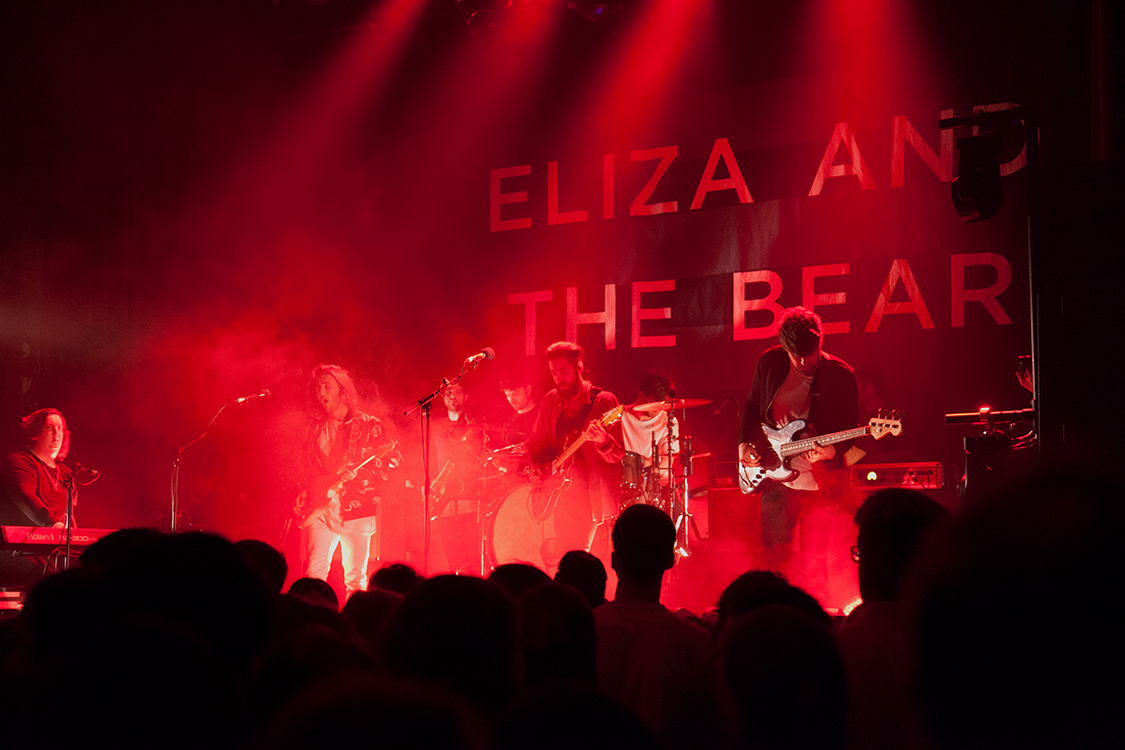 Ashdown on Stage with Eliza and the Bear