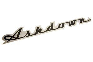 Black & Chrome Ashdown Text Scroll Logo