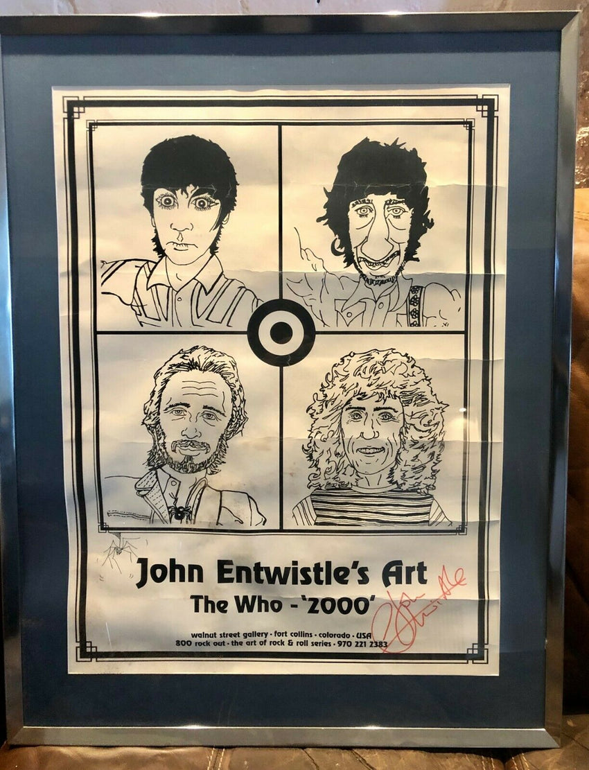 John Enstwistle's Art 'The Who 2000' owned and signed by John Entwistle