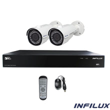 Infilux 4-Channel 2- 2.8mm-12mm Bullet Camera Bundle