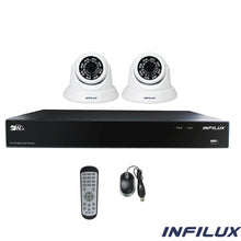 Infilux 4-Channel 2- 3.6mm Dome Camera Bundle