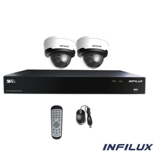 Infilux 4-Channel 2- 2.8mm-12mm Dome Camera Bundle