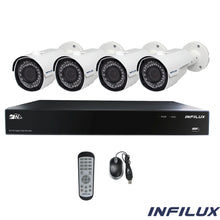Infilux 4-Channel 2- 2.8mm-12mm Bullet Camera Bundl4