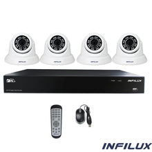 Infilux 4-Channel 4- 3.6mm Dome Camera Bundle