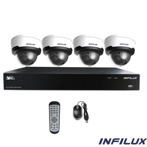 Infilux 4-Channel 4- 2.8mm-12mm Dome Camera Bundle
