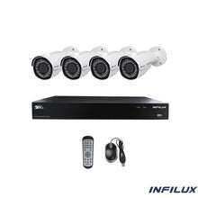 Infilux 8-Channel with 4 2.8mm- 12mm Bullet Camera Bundle