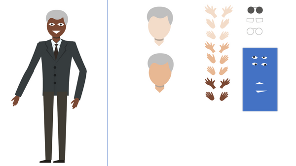 Powerpoint Character - semi-custom electronic download